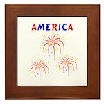 America's Fireworks Framed Tile