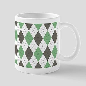 Green: Argyle Pattern Mug
