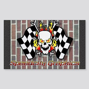 Speedcity Brickyard Rectangle Sticker