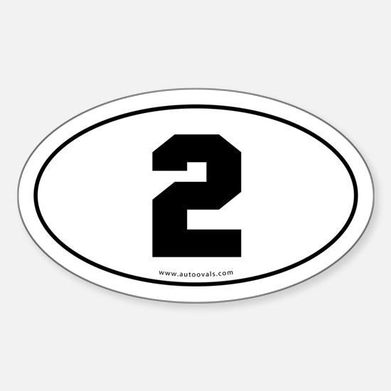 #2 Euro Bumper Oval Sticker -White