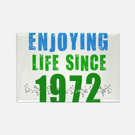 Enjoying life since 1972 Rectangle Magnet