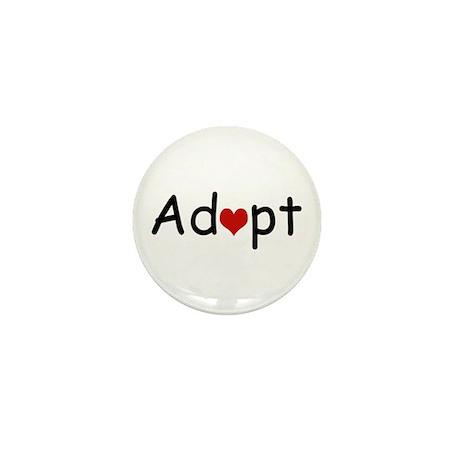 Adopt Heart Mini Button
