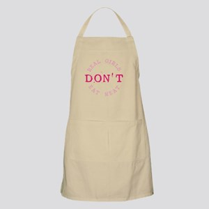 Real Girls Don't Eat Meat BBQ Apron