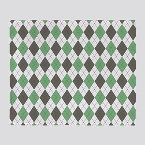 Green: Argyle Pattern Throw Blanket