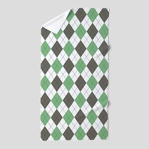 Green: Argyle Pattern Beach Towel