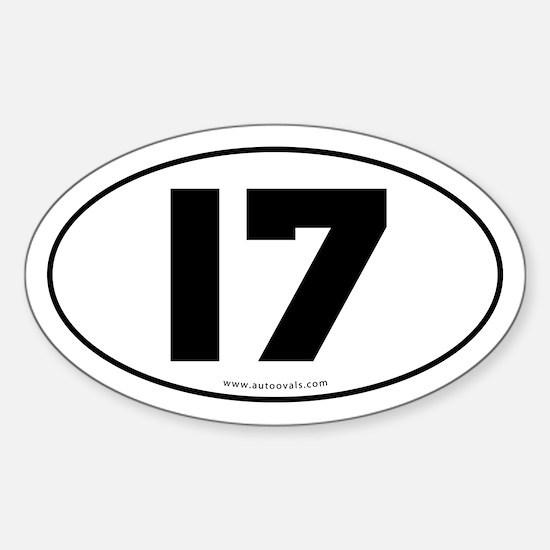 #17 Euro Bumper Oval Sticker -White