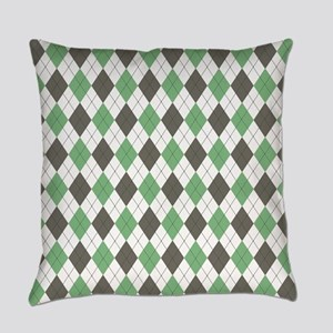 Green: Argyle Pattern Everyday Pillow