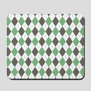 Green: Argyle Pattern Mousepad