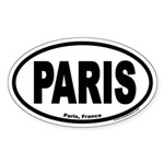 Paris France Euro Oval Sticker