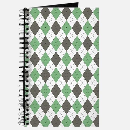 Green: Argyle Pattern Journal