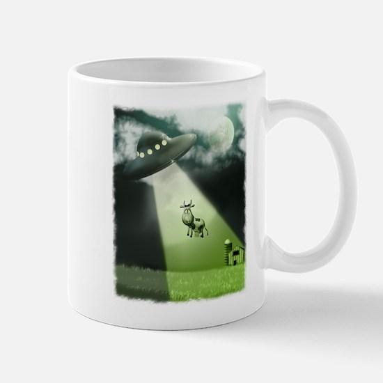 Comical Cow Abduction Mug