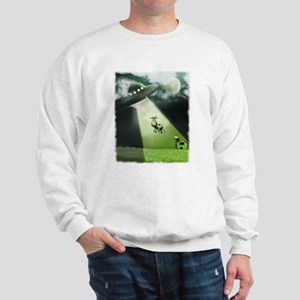 Comical Cow Abduction Sweatshirt