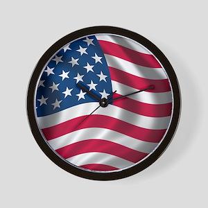 usflag Wall Clock