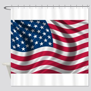 usflag Shower Curtain