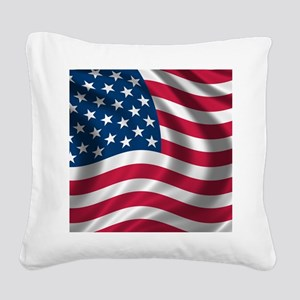 usflag Square Canvas Pillow