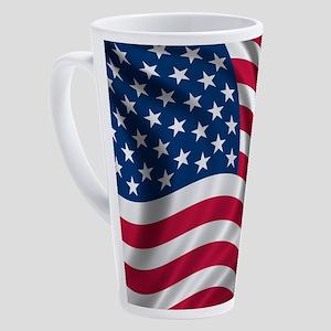 usflag 17 oz Latte Mug