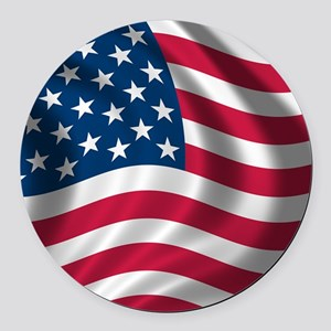 usflag Round Car Magnet