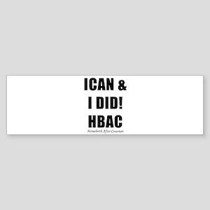 HBAC Homebirth After Cesarean VBAC Sticker (Bumper