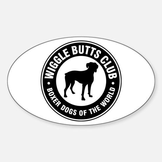 Wiggle Butts Club Oval Decal