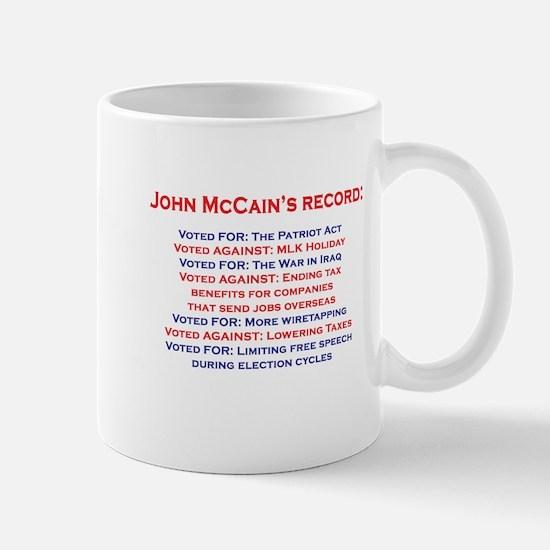 John McCain's Record Mug