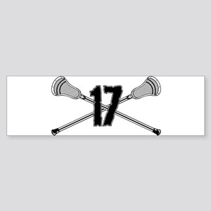 Lacrosse Number 17 Bumper Sticker