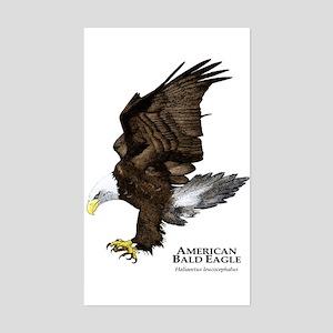 American Bald Eagle Rectangle Sticker
