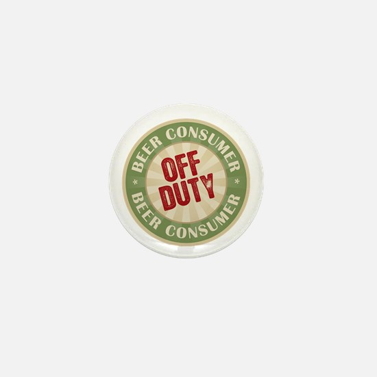 Off Duty Beer Consumer Mini Button