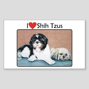 I love Shih Tzus Rectangle Sticker