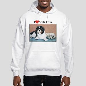 I love Shih Tzus Hooded Sweatshirt