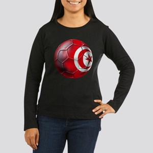 Tunisian Football Women's Long Sleeve Dark T-Shirt