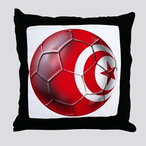 Tunisian Football Throw Pillow