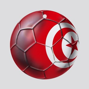 Tunisian Football Ornament (Round)