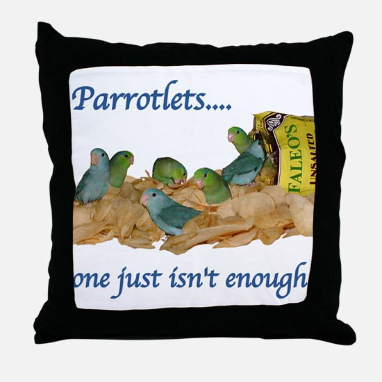 Parrotlets...one isn't enough Throw Pillow