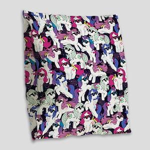 My Little Pony Retro Sunglasse Burlap Throw Pillow
