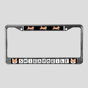 SHIBAMOBILE (Shiba Inu) License Plate Frame
