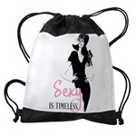 Sexy Is Timeless Drawstring Bag