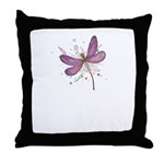 Dragonfly Pink Watercolor Throw Pillow