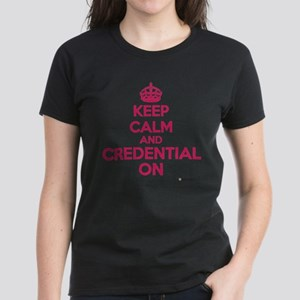 Keep Calm and Credential (pink) T-Shirt