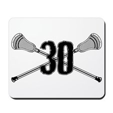 Lacrosse Number 30 Mousepad