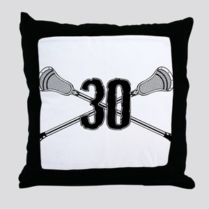 Lacrosse Number 30 Throw Pillow