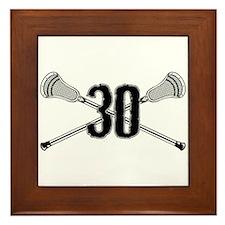 Lacrosse Number 30 Framed Tile