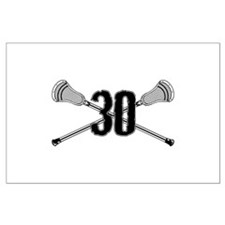 Lacrosse Number 30 Large Poster