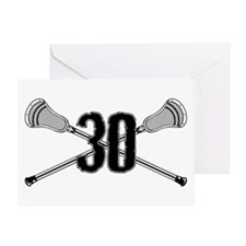Lacrosse Number 30 Greeting Card