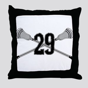 Lacrosse Number 29 Throw Pillow