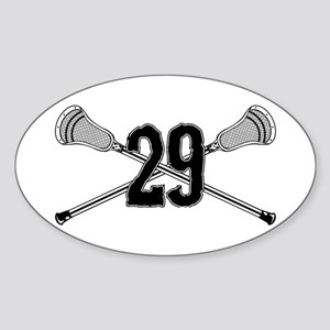 Lacrosse Number 29 Oval Sticker