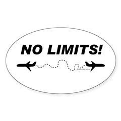 NO LIMITS! Oval Decal