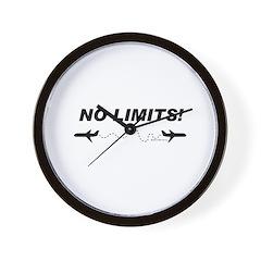 NO LIMITS! Wall Clock