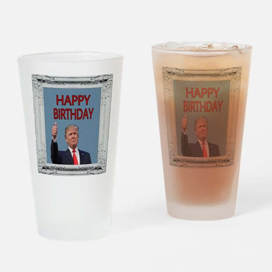 Unique Happy birthday Drinking Glass