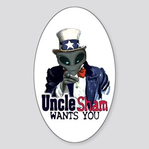 Uncle Sham Wants You! Oval Sticker