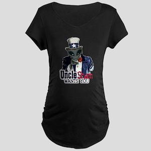 Uncle Sham Wants You! Maternity Dark T-Shirt